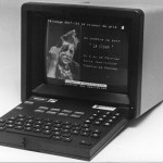 Photographic Minitel with a photographic page